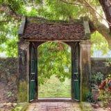 Asiatisk tropisk trädgård, Ninh Binh, Vietnam royaltyfri foto