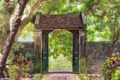 Asiatisk tropisk trädgård, Ninh Binh, Vietnam Fotografering för Bildbyråer