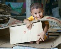 Asiatisk unge, vietnamesiska barn Arkivfoto