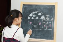 Asiatisk ungemålning Royaltyfri Fotografi