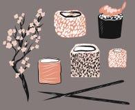 Asiatisk upps royaltyfri illustrationer