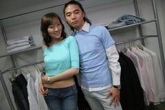 asiatiska attraktiva modeller Royaltyfri Fotografi