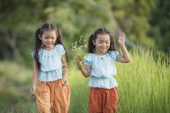 asiatiska barn Arkivfoto