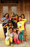 Asiatiska barn, fattigt barn, nätt flicka Arkivfoto