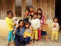 Asiatiska barn, fattigt barn, nätt flicka Arkivbild