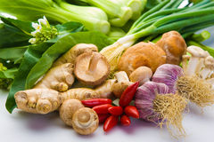asiatiska blandade grönsaker Arkivfoto