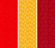 Asiatiska blom- vertikala baner för tappning Royaltyfri Fotografi
