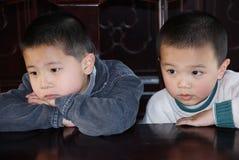 asiatiska bröder Arkivbild