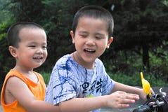 asiatiska bröder Fotografering för Bildbyråer