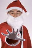 asiatiska claus ingen santa saying Arkivfoton