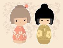 Asiatiska dockor Royaltyfri Bild
