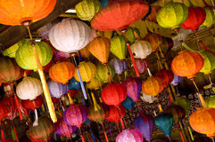 asiatiska färgglada lampor arkivbilder