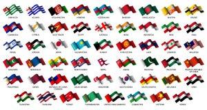 asiatiska flaggor vektor illustrationer