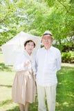 Asiatiska gammalare par Royaltyfria Bilder
