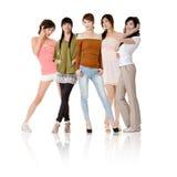 asiatiska gruppkvinnor Royaltyfri Fotografi