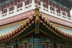 Asiatiska kinesiska antika byggnader Royaltyfri Bild