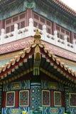 Asiatiska kinesiska antika byggnader Arkivbild