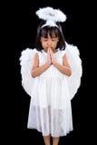 Asiatiska kinesiska lilla Angel Praying Royaltyfri Fotografi