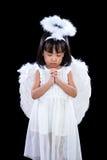 Asiatiska kinesiska lilla Angel Praying Arkivbild