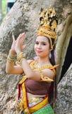 Asiatiska kvinnor i traditionell dräkt Royaltyfria Foton