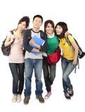 asiatiska lyckliga deltagare Arkivbild