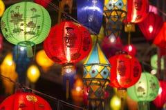 Asiatiska lyktor i lyktafestival Arkivfoton
