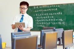 Asiatiska male lärare Arkivfoton