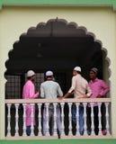 Asiatiska muslimska pojkar arkivbilder