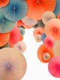 asiatiska paper paraplyer Fotografering för Bildbyråer