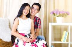 Asiatiska par Arkivbild