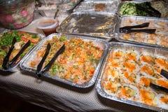 Asiatiska partifoods med räka- och rismjöl Royaltyfri Bild