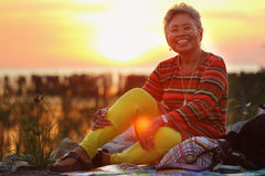 Asiatiska pensionärer Royaltyfri Bild