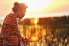 Asiatiska pensionärer Arkivbild