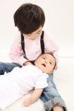 asiatiska spädbarn Arkivbild