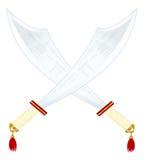 asiatiska svärd två Royaltyfri Fotografi