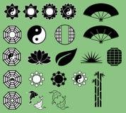 Asiatiska symboler Arkivfoto