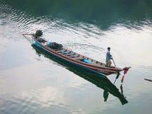 Asiatiska thailändska lokala fartyg Arkivfoto