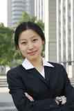 asiatiska unga affärskvinnor Royaltyfri Bild