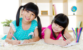 Asiatiska ungar Arkivfoto