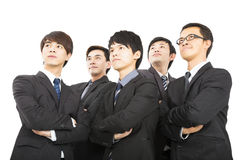Asiatiskt affärslag som tillsammans står Royaltyfri Fotografi