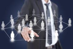 asiatiskt affärsmannätverksfolk som sätter samkväm Arkivbild
