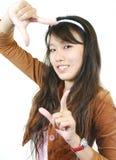 asiatiskt attraktivt flickabarn Arkivbilder
