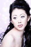 asiatiskt attraktivt kvinnabarn Fotografering för Bildbyråer