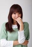 asiatiskt attraktivt kvinnabarn royaltyfri foto