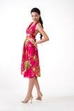 asiatiskt attraktivt kvinnabarn Arkivfoto