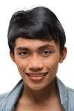 asiatiskt barn för stående för emomakeupman royaltyfri bild