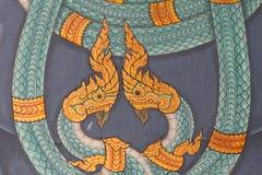 asiatiskt drakebildtempel thailand Arkivbild
