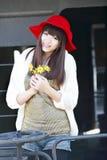 asiatiskt flickadrev Royaltyfria Bilder