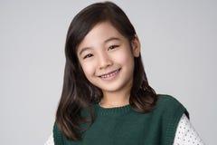 Asiatiskt flickastudioskott Arkivbilder