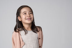 Asiatiskt flickastudioskott Royaltyfria Foton